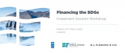 Financing the SDGs - Investment Solution Workshop